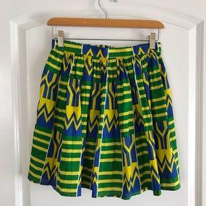 American Apparel Kente Ankara A Line Skirt